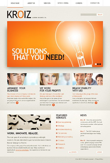 ADOBE Photoshop Template 35930 Home Page Screenshot