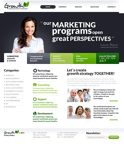 ADOBE Photoshop Template 35933 Home Page Screenshot