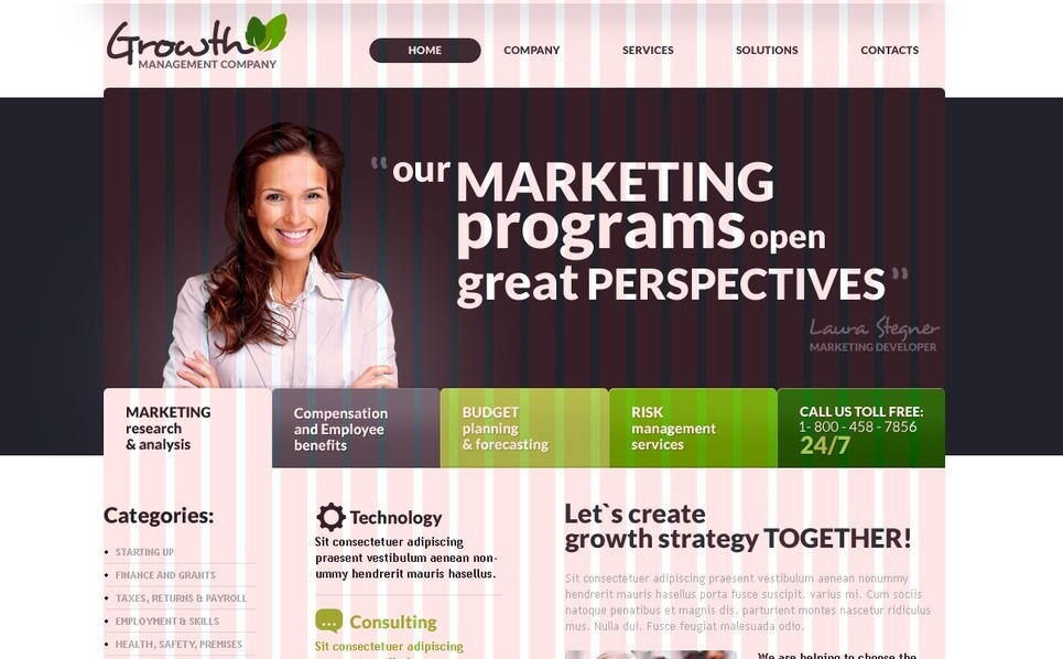 Plantilla PSD #35933 para Sitio de Agencia de marketing New Screenshots BIG