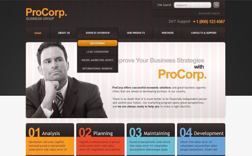 Szablon PSD #35934 na temat: biznes i usługi New Screenshots BIG