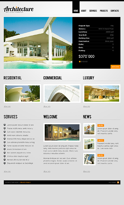 ADOBE Photoshop Template 35935 Home Page Screenshot