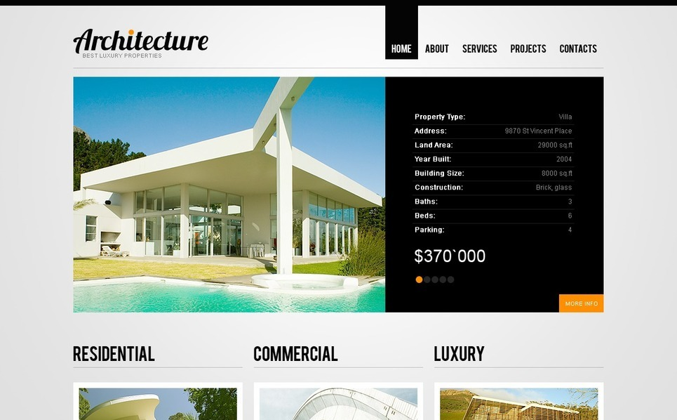 Szablon PSD #35935 na temat: architektura New Screenshots BIG