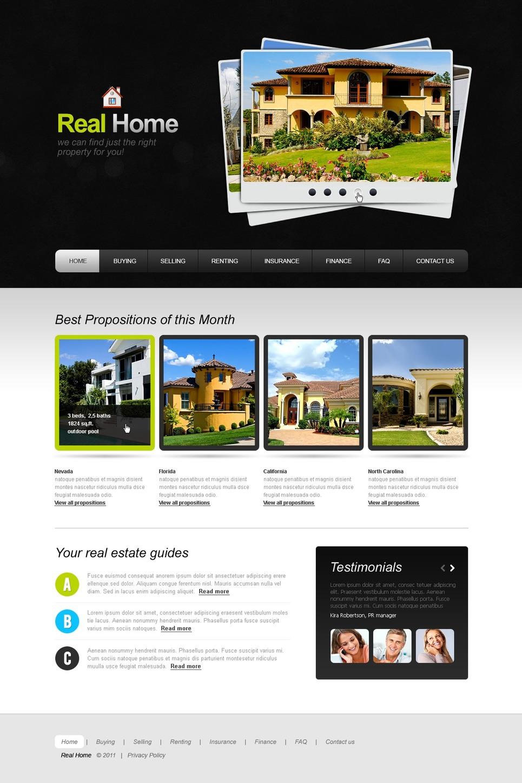 Modello siti web per un sito di agenzia immobiliare for Siti web di home plan
