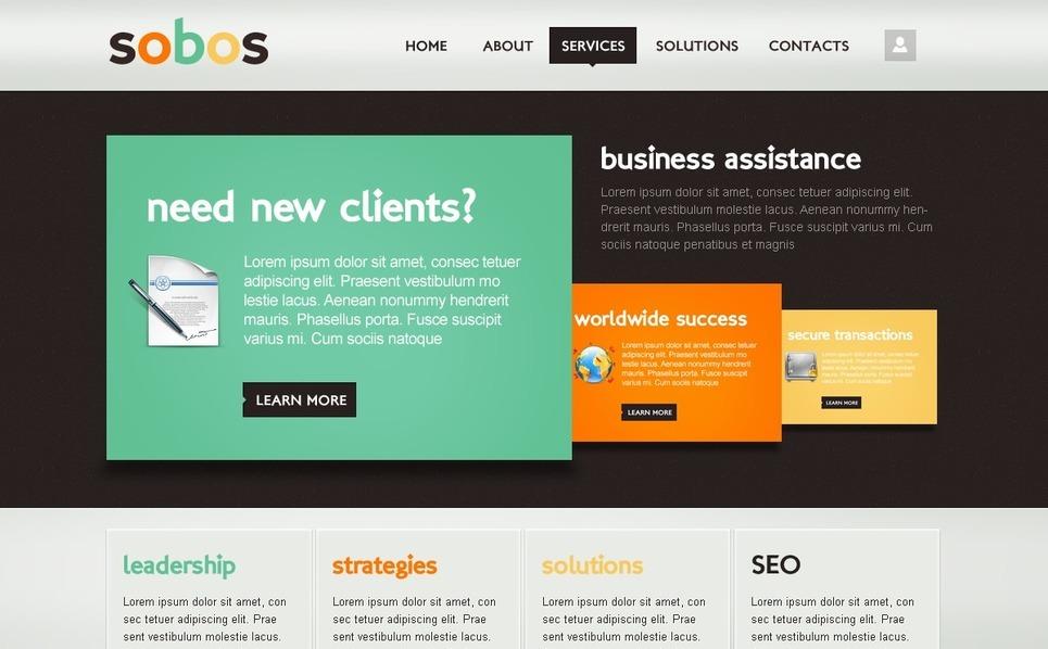 Modello Drupal  #35966 per Un Sito di Business e Servizi New Screenshots BIG