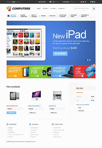 ADOBE Photoshop Template 36023 Home Page Screenshot