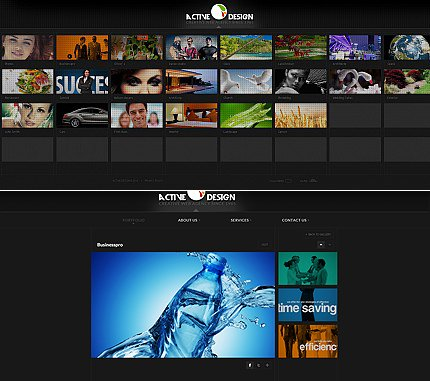 ADOBE Photoshop Template 36063 Home Page Screenshot