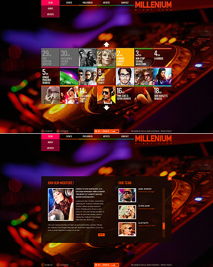 ADOBE Photoshop Template 36065 Home Page Screenshot