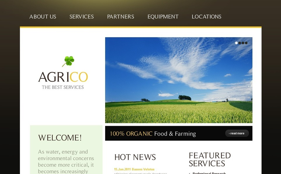 WordPress Theme für Landwirtschaft  New Screenshots BIG