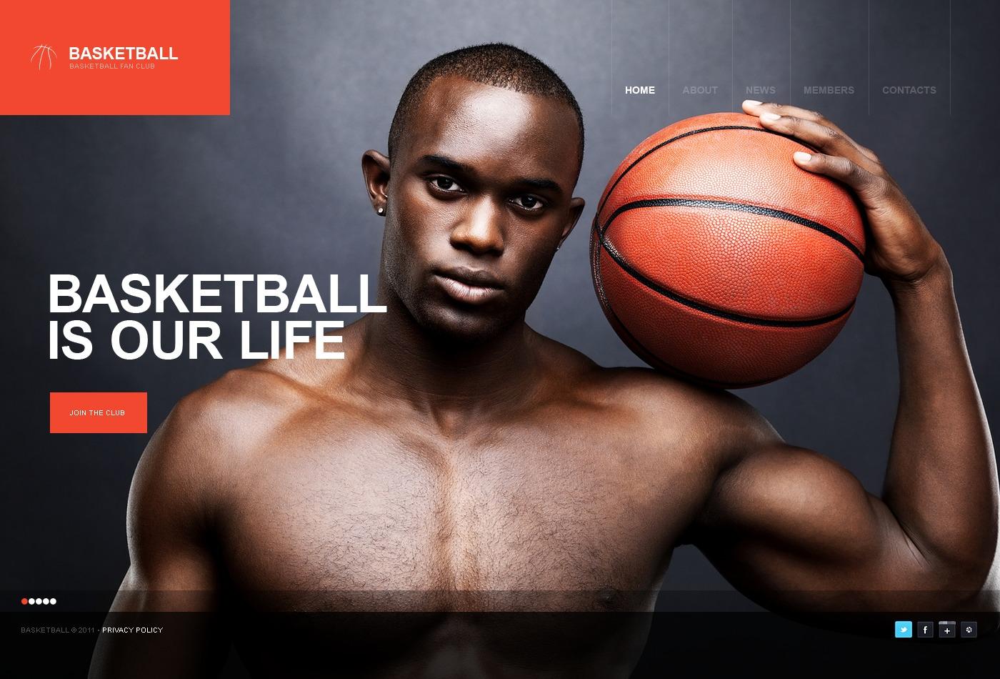 WordPress thema over Basketball №36009 - screenshot