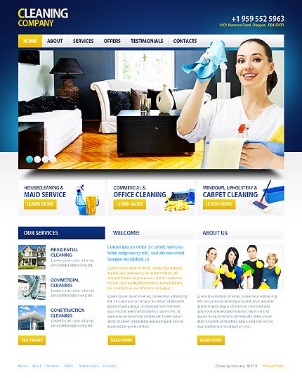 ADOBE Photoshop Template 36105 Home Page Screenshot