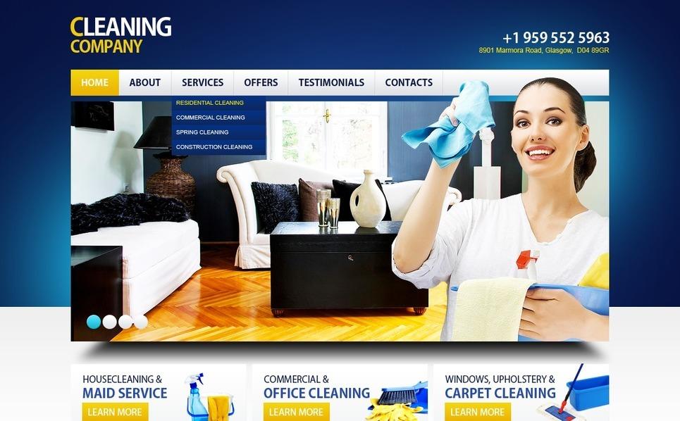 保洁公司网站PSD模板 New Screenshots BIG