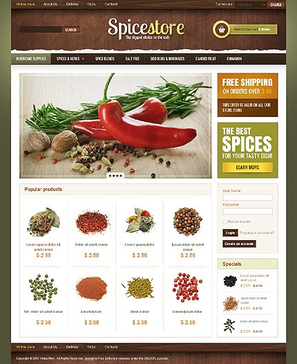 ADOBE Photoshop Template 36141 Home Page Screenshot