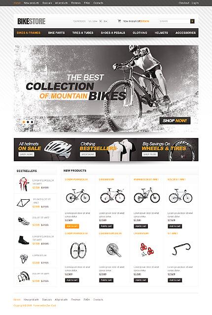 ZenCart Template 36152 Main Page Screenshot