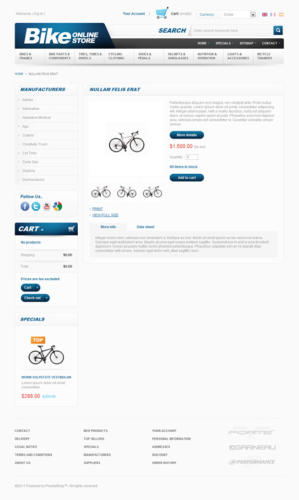 ADOBE Photoshop Template 36158 Home Page Screenshot