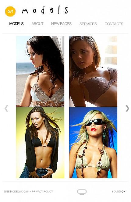 ADOBE Photoshop Template 36164 Home Page Screenshot