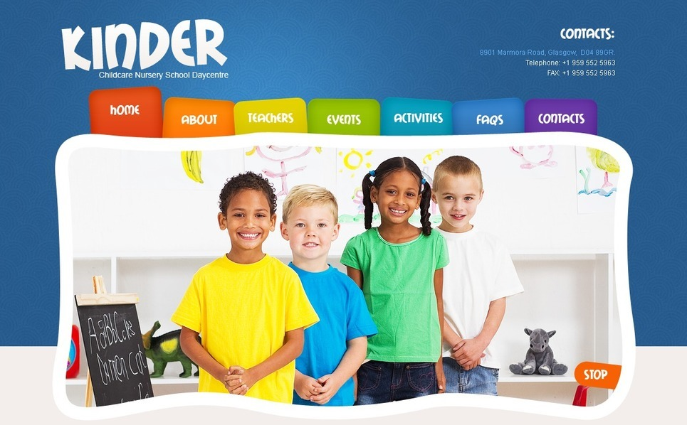 PSD Template over Kindercentrum New Screenshots BIG