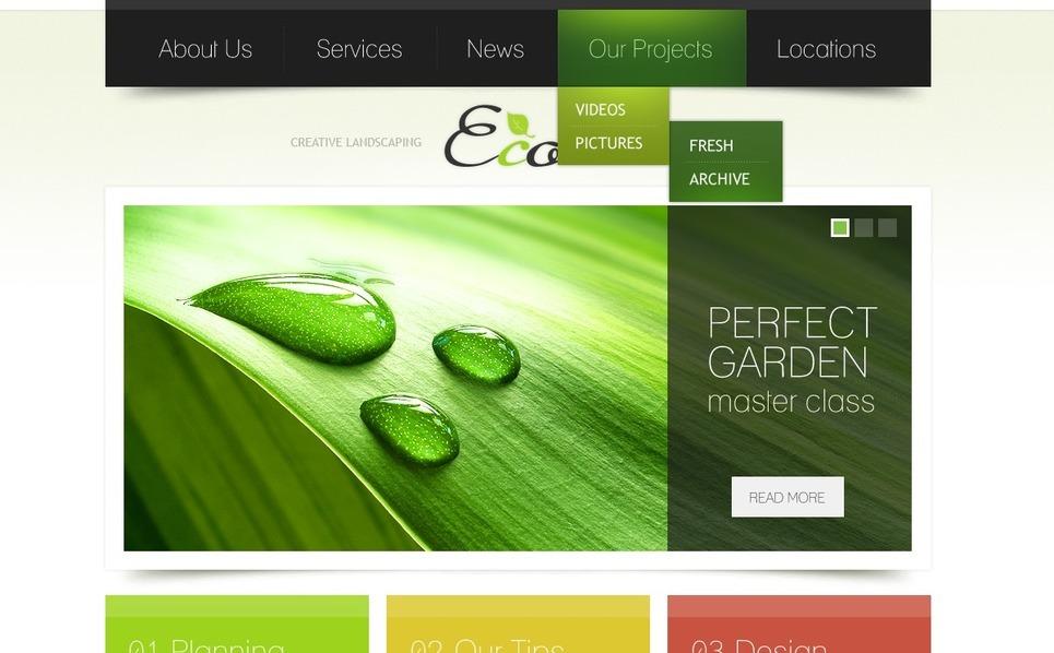 Szablon PSD #36178 na temat: projektowanie ogrodów New Screenshots BIG