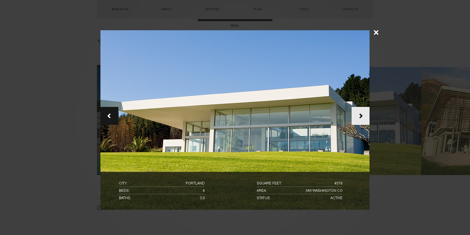 Exterior design website template 36103 for Exterior design templates