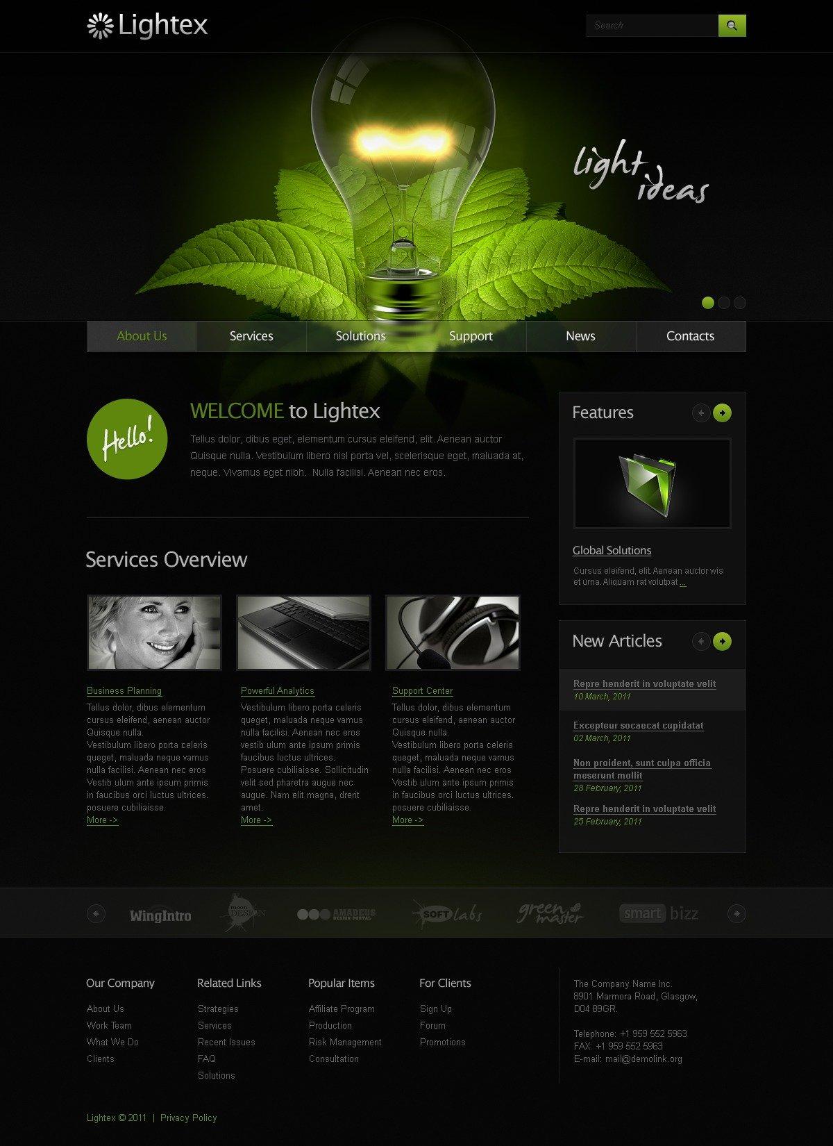 商业与服务网页模板 #36182 - 截图