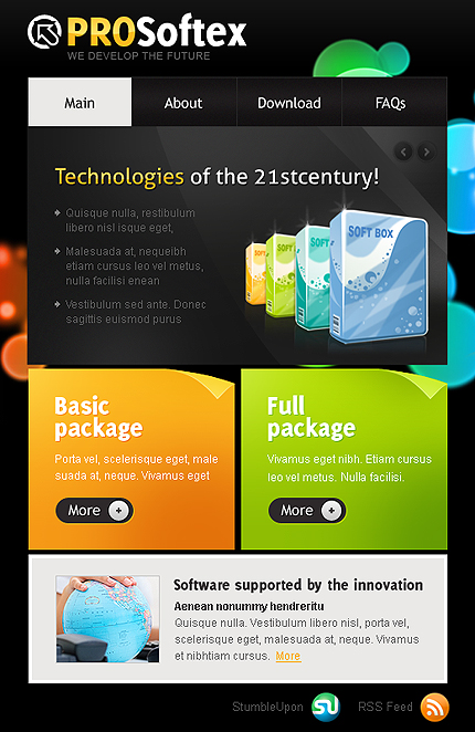 ADOBE Photoshop Template 36215 Home Page Screenshot