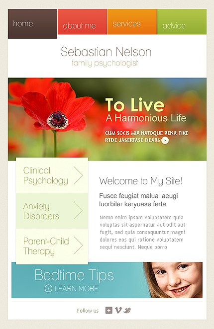 ADOBE Photoshop Template 36217 Home Page Screenshot