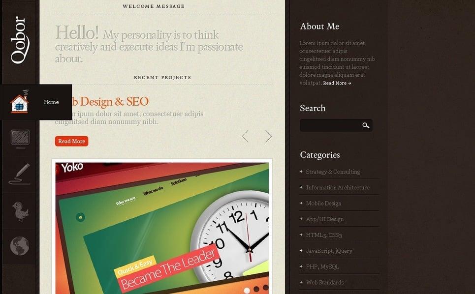 Webfejlesztés Drupal sablon New Screenshots BIG