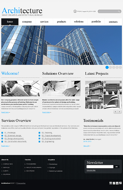 ADOBE Photoshop Template 36245 Home Page Screenshot