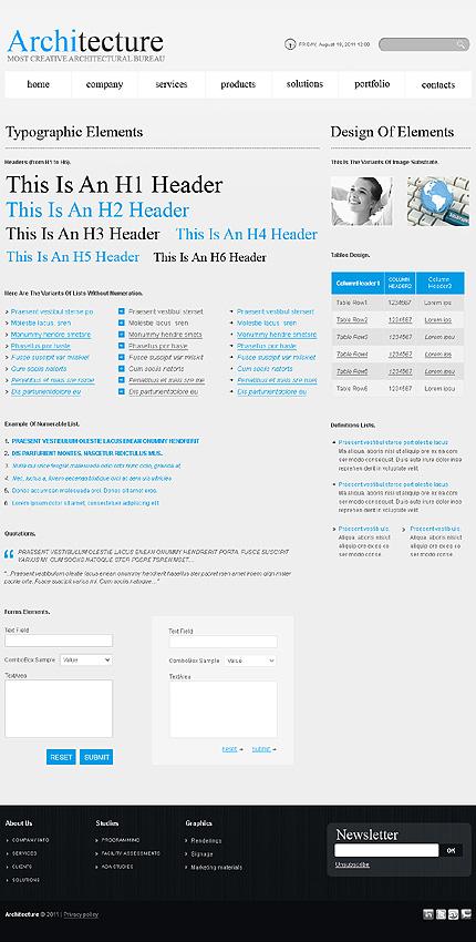 ADOBE Photoshop Template 36245 Home Page Screenshot
