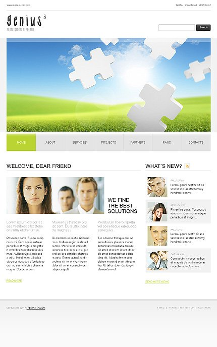 ADOBE Photoshop Template 36246 Home Page Screenshot