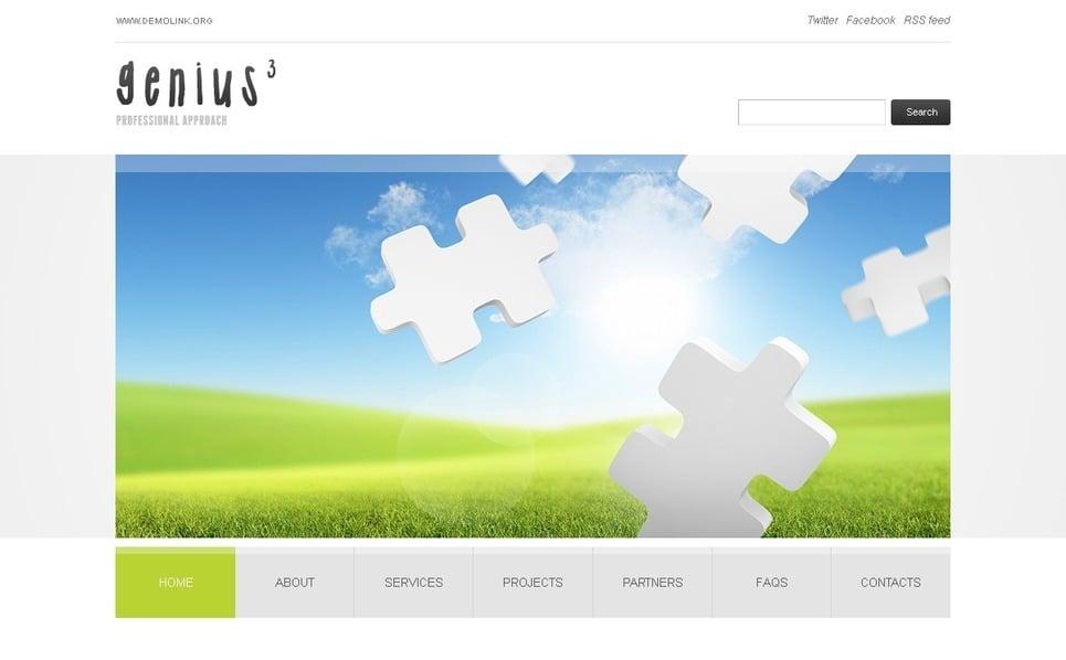 Szablon PSD #36246 na temat: biznes i usługi New Screenshots BIG