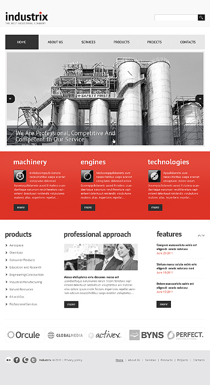ADOBE Photoshop Template 36247 Home Page Screenshot