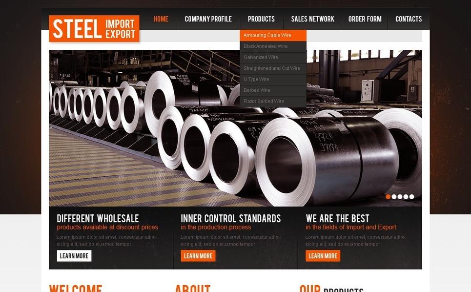 PSD Template over Staalbedrijf  New Screenshots BIG