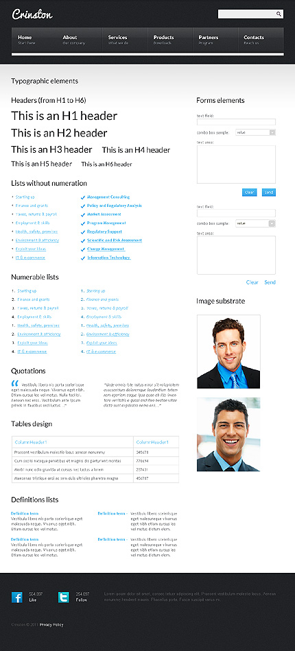 ADOBE Photoshop Template 36249 Home Page Screenshot