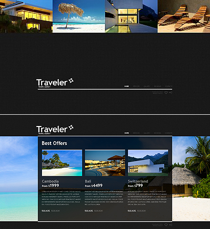 ADOBE Photoshop Template 36257 Home Page Screenshot