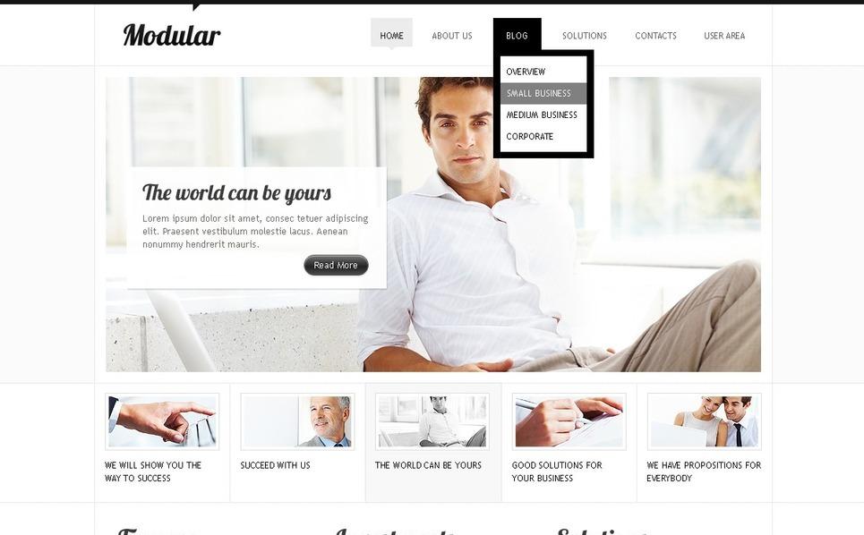 Drupal Vorlage für Finanzberater  New Screenshots BIG