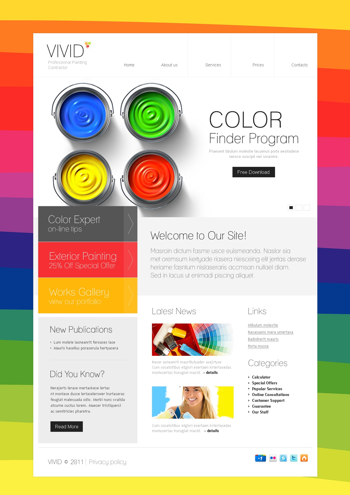 Painting Company Website Template #36297