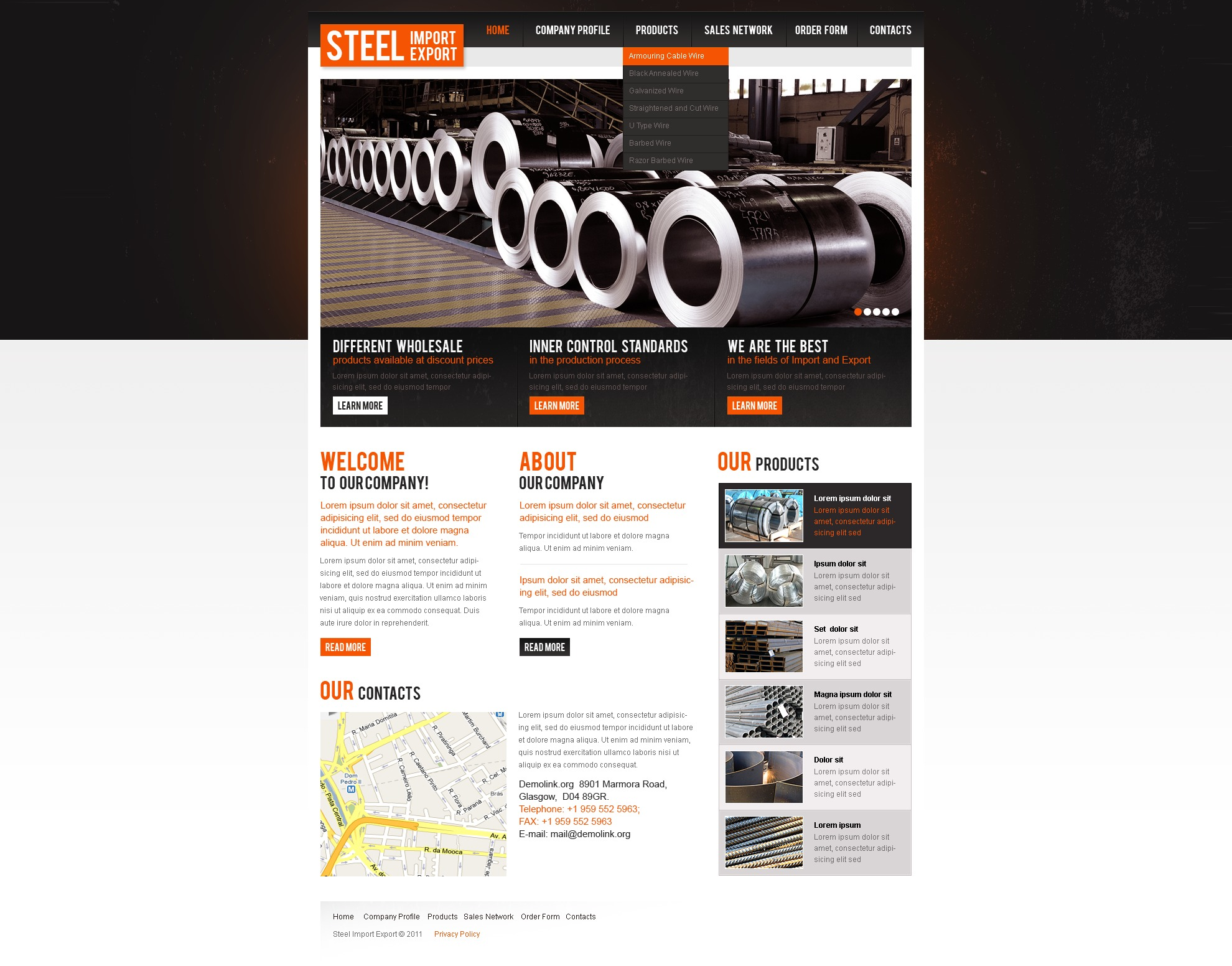 Steelworks PSD Template