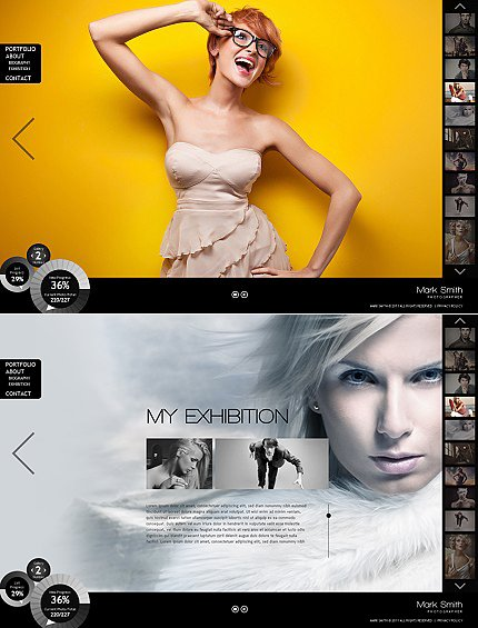 ADOBE Photoshop Template 36322 Home Page Screenshot