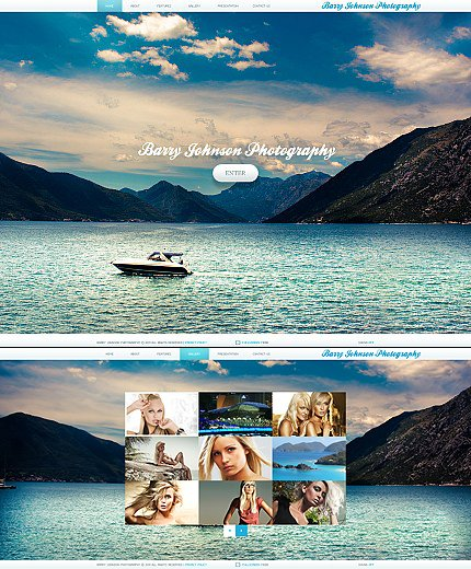 ADOBE Photoshop Template 36324 Home Page Screenshot