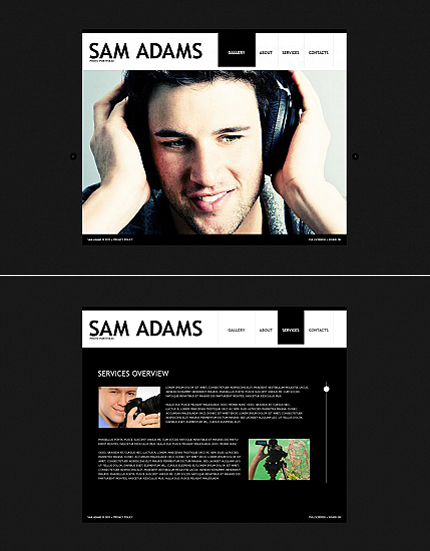 ADOBE Photoshop Template 36326 Home Page Screenshot