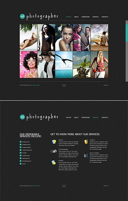 ADOBE Photoshop Template 36327 Home Page Screenshot