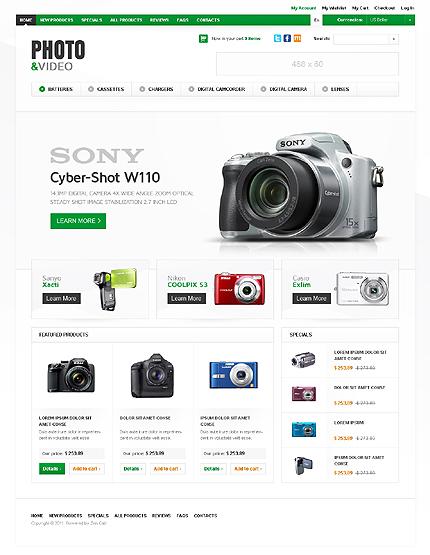 ZenCart Template 36350 Main Page Screenshot