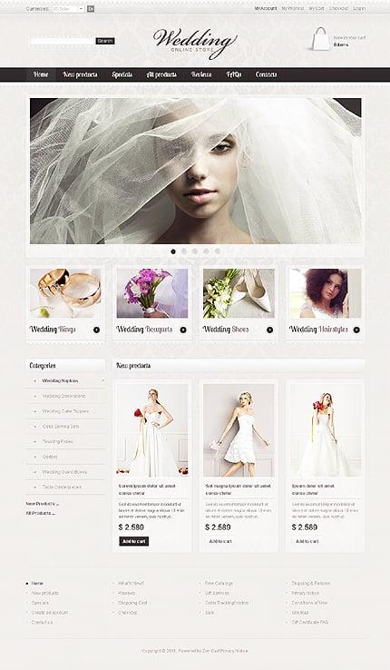 ZenCart Template 36353 Main Page Screenshot