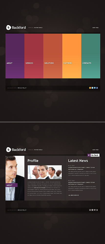 ADOBE Photoshop Template 36360 Home Page Screenshot