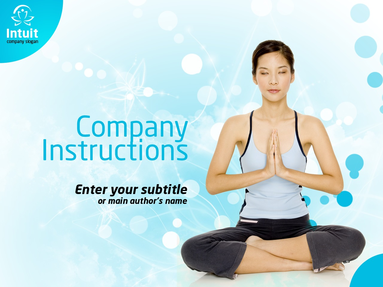 Plantilla PowerPoint #36339 para Sitio de Yoga