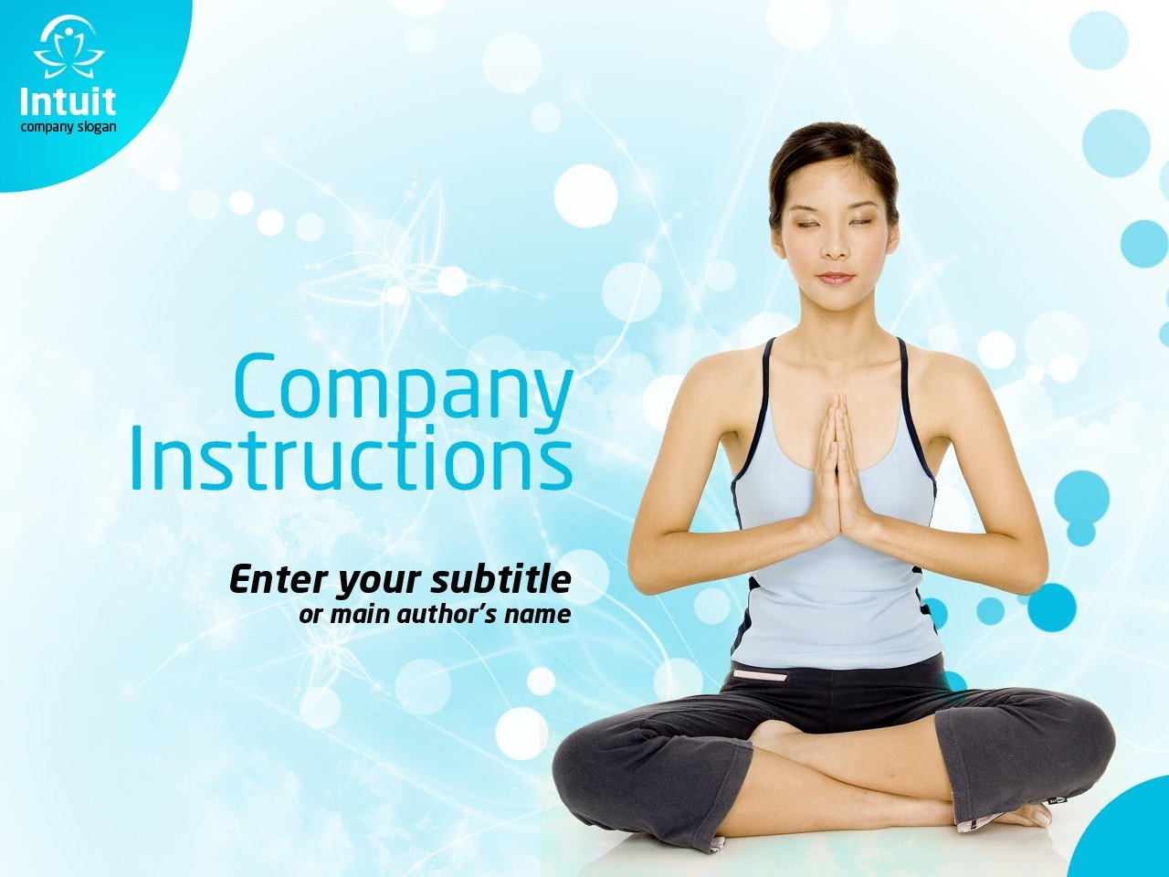 yoga powerpoint template #36339, Presentation templates