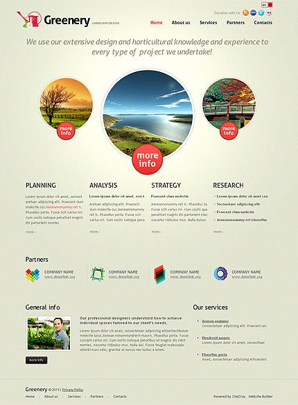 ADOBE Photoshop Template 36429 Home Page Screenshot