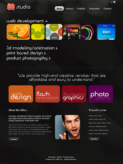 ADOBE Photoshop Template 36431 Home Page Screenshot