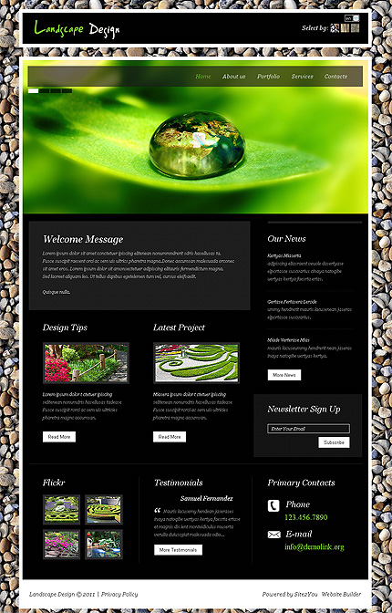 ADOBE Photoshop Template 36432 Home Page Screenshot