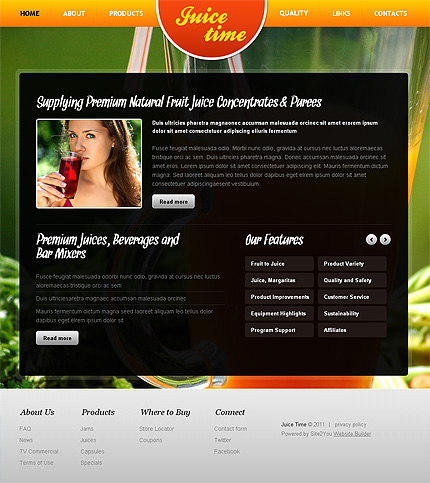 ADOBE Photoshop Template 36434 Home Page Screenshot
